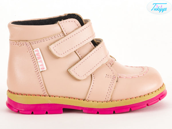 Leather Winter Boots for Girls & Toddlers - Orthopedic Insole with Wool Lining