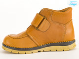 Brown Leather Boots for Winter with Orthopedic Insole - Boys & Girls