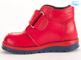 Leather Winter Boots for Girls & Toddlers - Orthopedic Insole Red Color