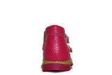 Girls Double Velcro Fuschia Pink Wool Lining Boot 245-06