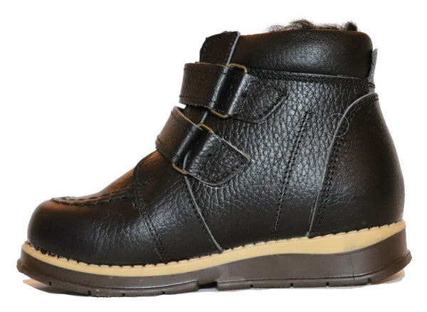 Double Velcro Black Boot 343-65