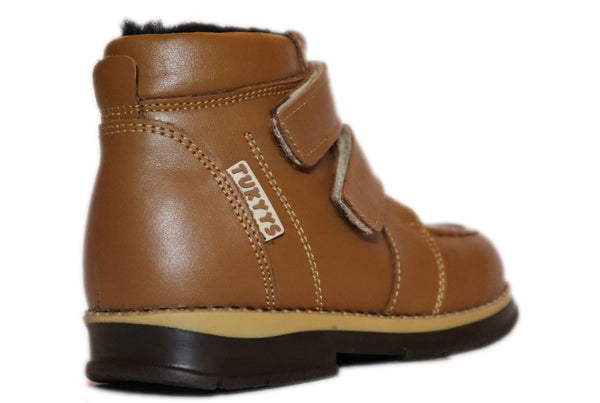 Double Velcro Brown Boot 343-64
