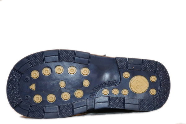 Double Velcro Dark Blue Boot 343-61