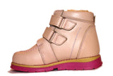 Double Velcro Light Pink Boot 343-63