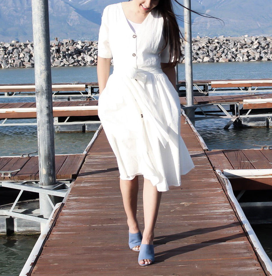 Off White Parisian Dress