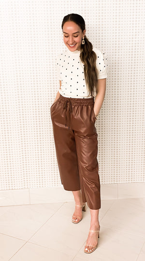 Leatherette Wide Bottoms