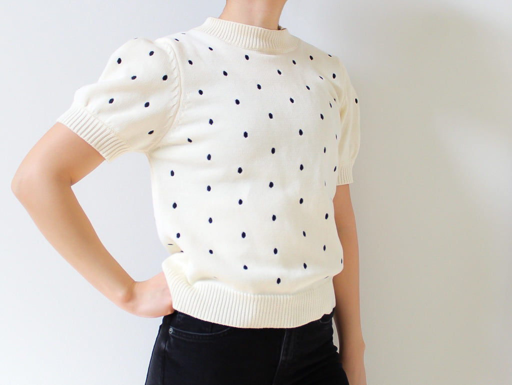 Short Sleeve French Sweater