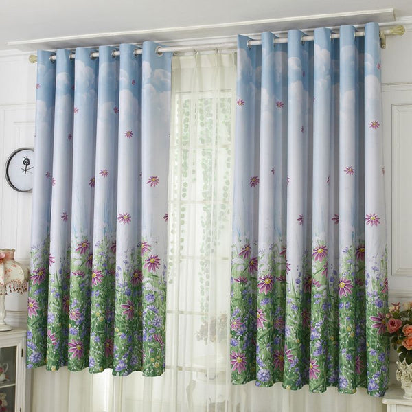 Curtains Drapery Window Printed Curtain