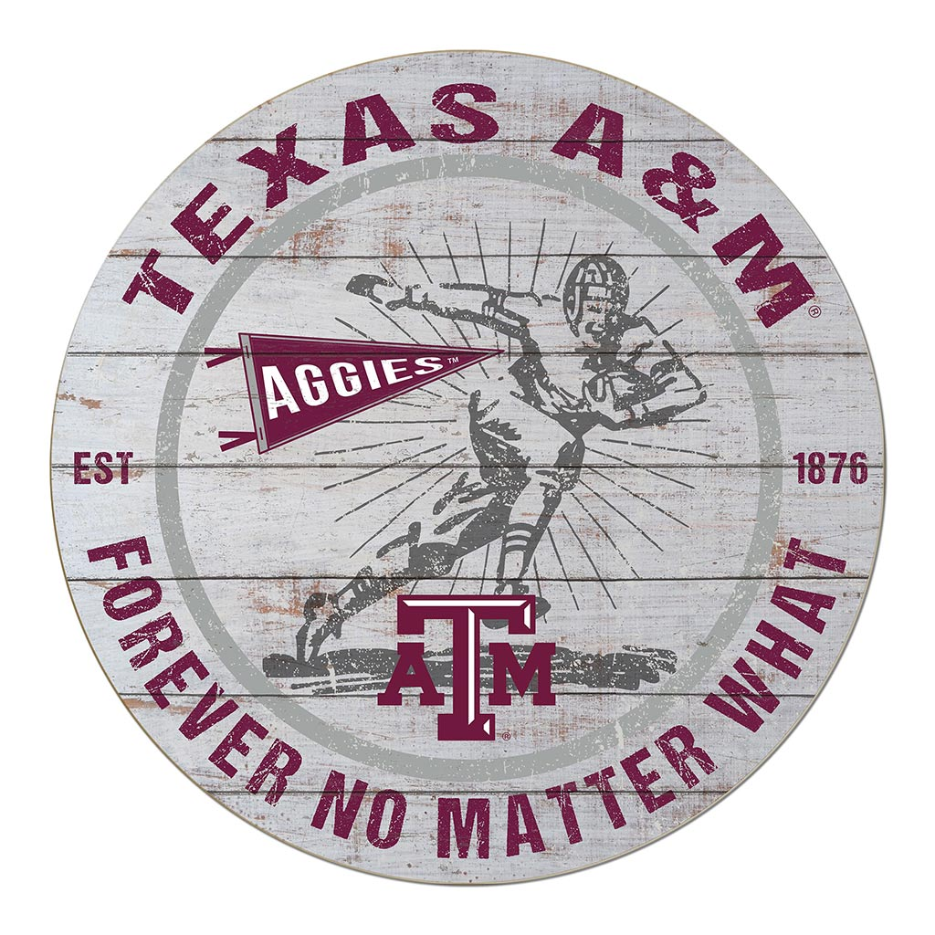 20x20 Throwback Circle Sign Texas A M Aggies Football Selling Daddy