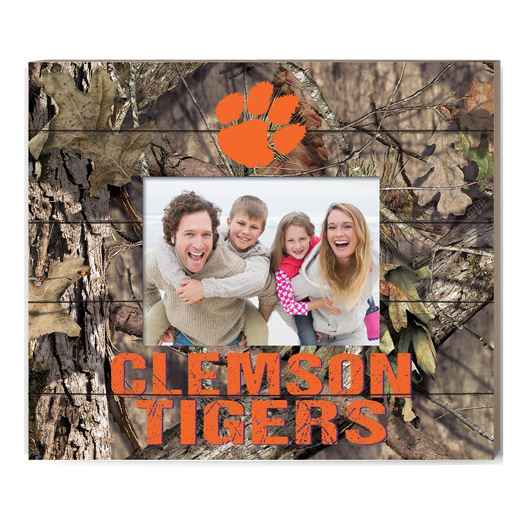 KH Sports Fan Clip It Colored Happy Holidays Photo Frame Clemson Tigers