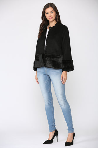 Julissa Fur Trimmed Jacket