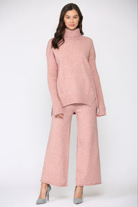 Sonnet Knitted Pant - Pink
