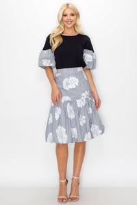 Wynne Floral Print Bubble Skirt