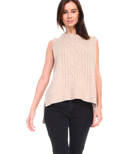 Heather Ribbed Sweater Vest