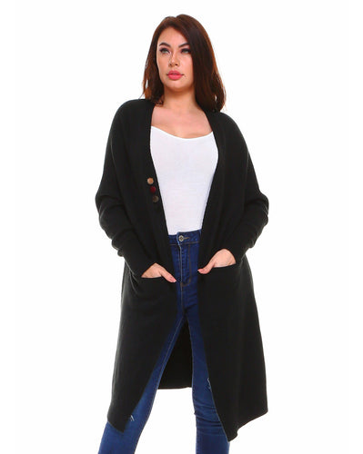 7313SW Holly Cardigan - Black