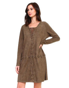 Arica Suede Tunic Dress