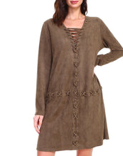 Load image into Gallery viewer, Arica Suede Tunic Dress