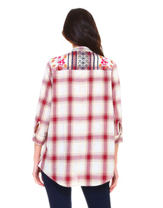 Penelope Plaid Top