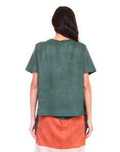 7327A Alyssa Top-Hunter Green
