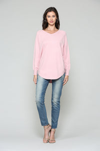 7342SW Sadie Top- Pink