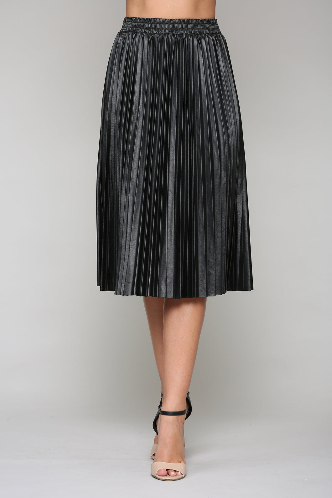 Lisa Pleated Skirt - Black