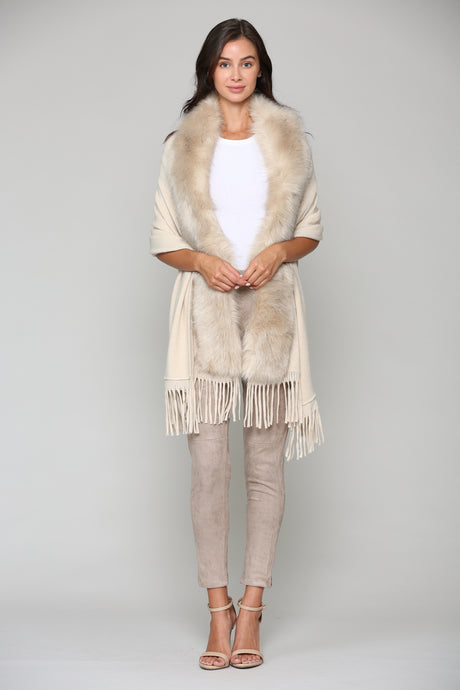7476FR Faye Wrap Fur-Tan