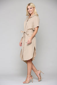 Teresa Tunic Dress - Khaki