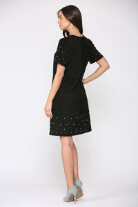 Allison Suede Dress with Studs