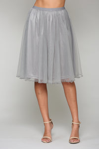 Mia Tulle Skirt - Grey