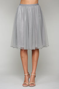 Mia Tulle Skirt 7750MS Grey