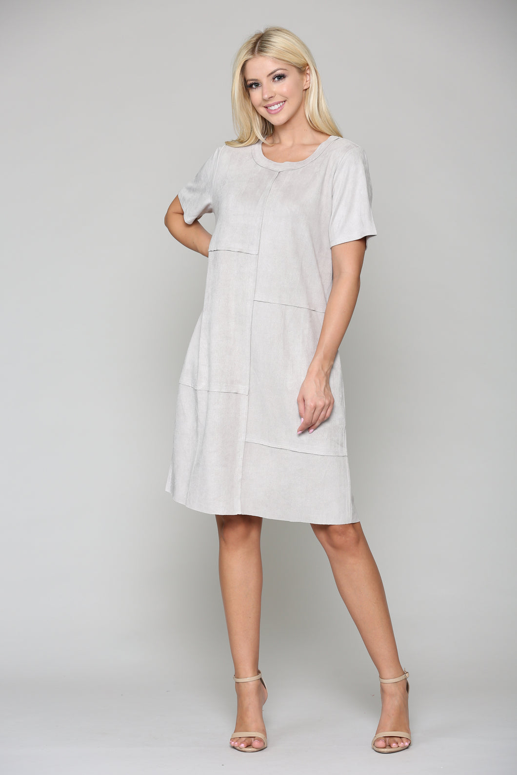 Adelyn Suede Dress - Silver