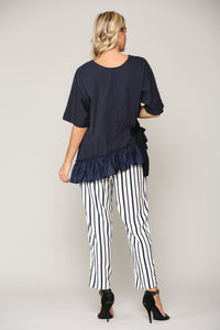 Waverly Top 7806W Navy