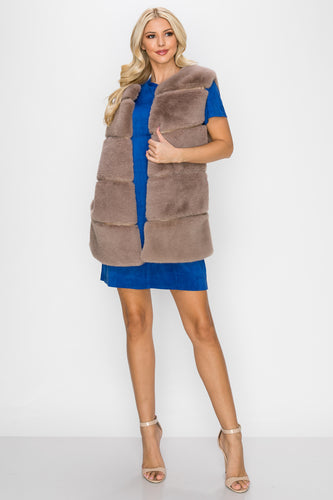 Joan Fur Vest - Toffee