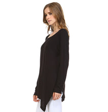 Load image into Gallery viewer, K7321C Kelly Crew Neck Top - Black