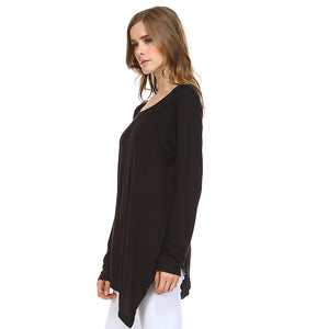 K7321C Kelly Crew Neck Top - Black