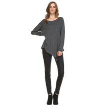 Load image into Gallery viewer, K7321C Kelly Crew Neck Top Charcoal