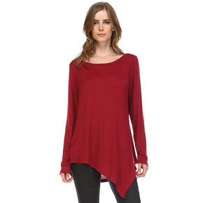 K7321C Kelly Crew Neck Top - Wine