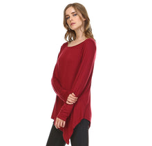 Load image into Gallery viewer, K7321C Kelly Crew Neck Top - Wine