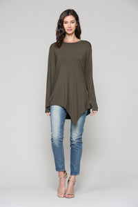 Kelly Crew Neck K7321C Olive