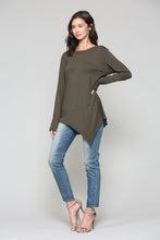 Load image into Gallery viewer, K7321C Kelly Crew Neck Top - Olive