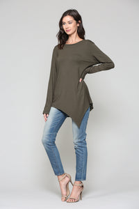 Kelly Crew Neck - Olive