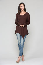 Load image into Gallery viewer, K7321V Kelly V-Neck Top - Chocolate