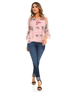Lizzie Top With Tank LA7085 Rose