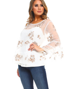Lizzie Top With Tank - White