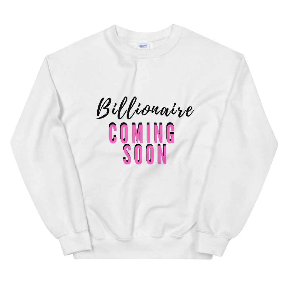 Pink Billionaire Sweater (white)