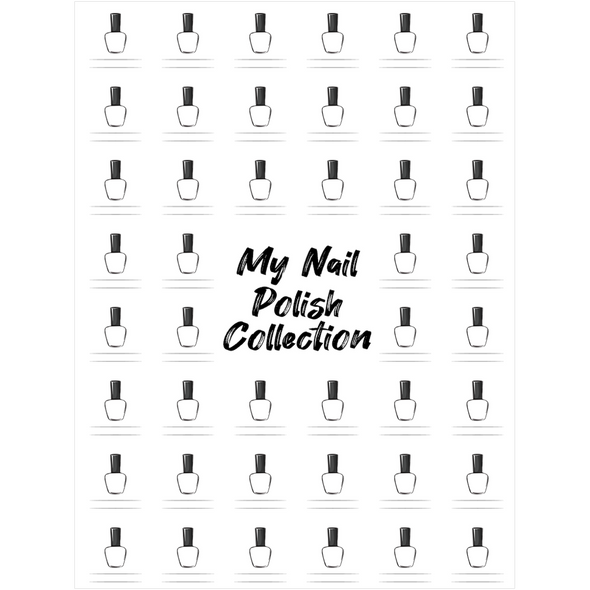 "The Swatch Chart in ""My Nail Polish Collection"" Canvas Poster"