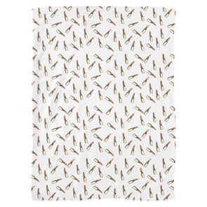 Lipsticks Fleece Blanket