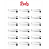 AN Lipstick Collection - Canvas Posters - Reds