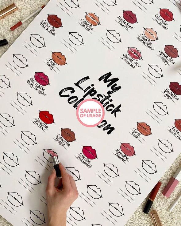 "The Swatch Chart in ""Read My Lips"" Canvas Poster"