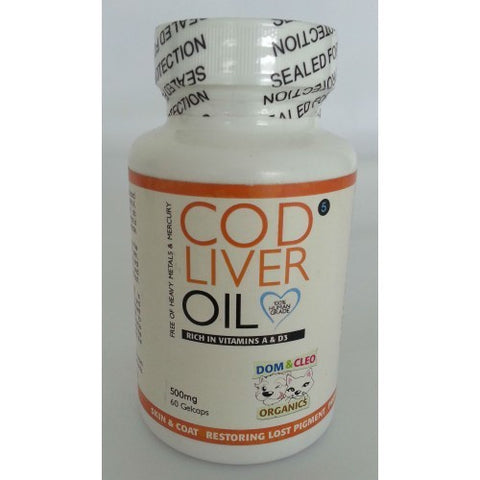 Dom & Cleo Cod Liver Oil 60 gelcaps